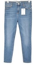 Topshop Petite SKINNY JAMIE High Waisted Blue Stretch Crop Jeans Size 12 W30 L28
