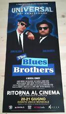 THE BLUES BROTHERS  Locandina Cinema 33x70 Poster Film Originale