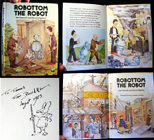 1980 DAVID HIGHAM ILLUSTRATED SIGNED INSCRIBED WITH DRAWING ROBOTTOM THE ROBOT