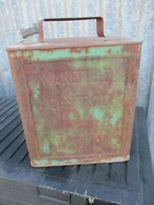 Wakefield Castrol motor oil 2 gallon tin