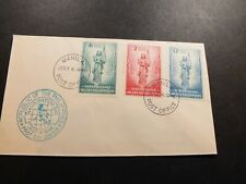 Philippines FDC 4 Jul 1946 Inauguration Day Independence Stamps Manila P.O.