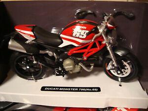 Ducati Monster 796 Nicky Hayden #69 Edition Newray 1:12