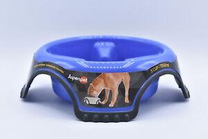 AspenPet 3 Cup AntiSkid Slow Feed Dog Bowl, Blue