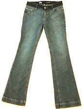 Eckored Stretch Low Rise Bootcut Flare Denim Medium Wash Jeans Size Womens JR 9