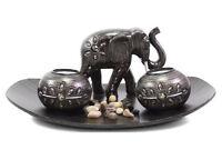 Tabletop Gifts & Decor Tealight Candleholder Light Set Elephant Figure US Seller