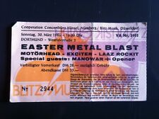 Ticket EASTER METAL BLAST 30.03.1986 Dortmund/Germany MOTÖRHEAD, MANOWAR EXCITER