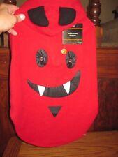 NEW DEVIL DOG DRACULA LED Hooded Fleece Jacket DOG Costume SIZE LARGE