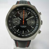 Herren Chronograph DUGENA Monza Cal. 7765 Stahl watch vintage watch steel