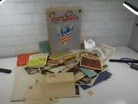 Lot of Vintage Paper Ephemera Letters Papers Some WW2 Era USO and V Victory