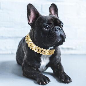 Gold Necklace Collar Pet Choke Chain Small Cat Dog French Bulldog Puppy Teddy x1