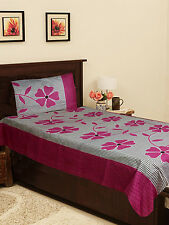 Homefab India Cotton Single Bed-Sheet with 1 Pillow Cover (Single147)