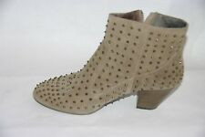 $285 ASH JUDY  Stone Studded Brushed Suede  Anckle Women's Boots 40EUR/9.5 US