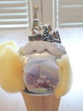 Thomas Kinkade Ashton-Drake Galleries Moonlit Village Sleigh Bell Ornament