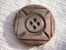 "Vintage Medium 1-3/16th"" Smokey Mother Of Pearl MOP Shell Sew Thru Button PB64"