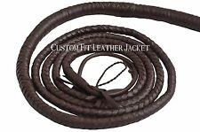Indiana Jones Movie Dark Brown Bullwhip Hunter Real Cow Hide Leather 10 Feet