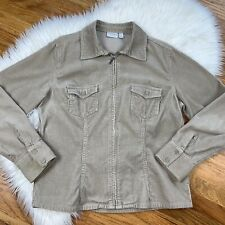 Sonoma Women's Size Large Tan Lighweight Corduroy Jacket