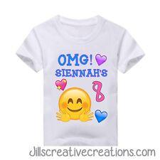 Emoji shirt, Birthday, Personalized shirts, Shirts, t-shirts, emoji