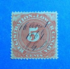 1866 5c CANADA QUEBEC REGISTRATION REVENUE VD # QR1a B # 1 USED          CS32752