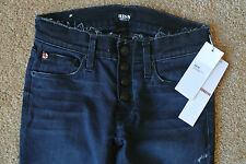 HUDSON LEIA EXPOSED BUTTON FLY SUPER SKINNY Ankle Jeans 24X26 NWT$219 Stretch!