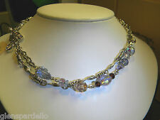 NEW KIRKS FOLLY MULTI STRAND  necklace borealis crystal  new free ship 26IN