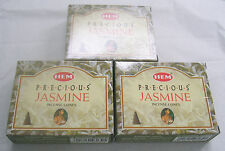 Hem Precious Jasmine Incense Cones, Bulk Lot of 3, Pack of 10 Cone = 30 Cones