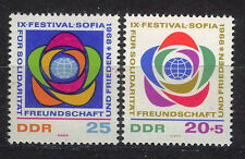 ALEMANIA/RDA EAST GERMANY 1968 MNH SC.1017+B148 Youth festival for peace