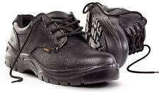 NEW SITE COAL BLACK LEATHER SAFETY SHOES SIZE 12 / EU 46 - S1P SRC BARGAIN