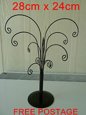 1x earring jewelery display tree/stand (28cm x 24cm) in black metal. FREE post.