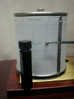 "Barograph ""NIB & Blue INK Set"" Glass Bottle /parts spare chart barometer clock"