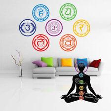 Mandala Yoga Meditation Symbol Chakra Chakras Wallpaper Wall Sticker Room Decor