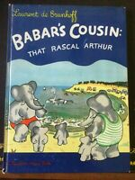 Babar's Cousin:That Rascal Arthur, DeBrunhoff,1st ed,1948,Script,VG+++