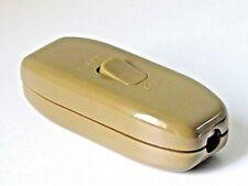 6amp In Line Gold Rocker Torpedo Switch For 3 Core Flex Table Floor Lamp