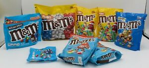 8 collector's bags of M&M's chocolate candy from Belgium, France, USA