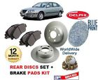 FOR HYUNDAI ELANTRA 1.6 2.0 2.0DT 1995-2005 REAR BRAKE DISCS SET + DISC PAD KIT