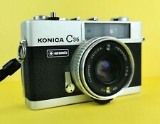 Konica C35 Automatic Classic Rangefinder Street Camera f2.8 38mm Lens Tested