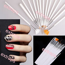 Hot 15pc/Set Nail Art UV Gel Design Brush Set Painting Pen Manicure Tips Tools E