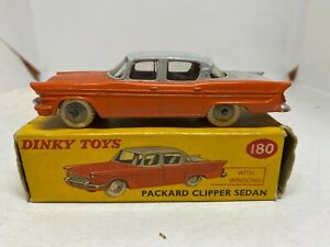 Dinky Toys 180 Packard Clipper Sedan Orange & Grey Boxed