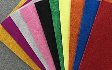 10 X WamiQ ASSORTED A5 GLITTER SELF ADHESIVE EVA ART& CRAFT FOAM SHEETS