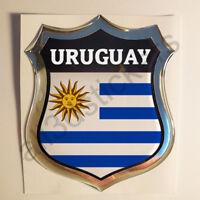 Pegatina Uruguay 3D Escudo Emblema Vinilo Adhesivo Resina Relieve Coche Moto