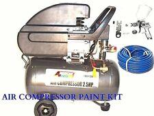 Air Compressor 6 Gallon Hvlp Spray Gun14 50ft Air Hose Quick Air Fittings