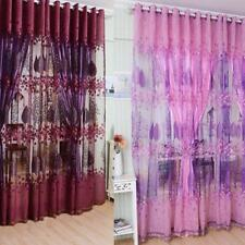 Modern Valances Floral Tulle Voile Drape Panel Sheer Door Window Colors Curtain