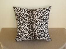Snow Leopard Animal Print Brown Black White Decor Cushion Cover 45cm Au Made