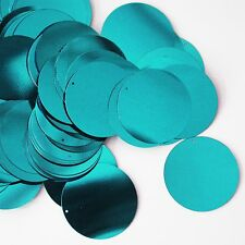 30mm Sequins Turquoise Blue Metallic. Made in USA