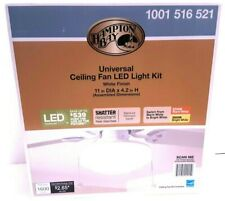 Hampton Bay 11'' Universal LED Light Kit 1001516521 White Finish for Ceiling Fan