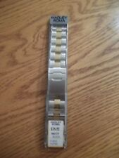 NEW Hadley Roma MB5977T SQ 20-24mm MENS Watch Band STAINLESS SQUEEZE END 2 TONE