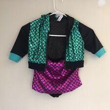 MONSTER HIGH Kids Girl Mermaid Hooded Costume Size 8-10