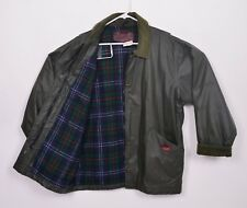 Vtg Woolrich Woman Sz Large Wax Flannel Lined Hunting Outer Rain Jacket USA