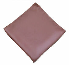 "Vintage Pale Pink Pocket Square - 100% Silk - 17"" Square - Machine Sewn Edges"