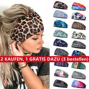 Haarband Stirnband Damen breit Hair Bands Sommer Stretch Bandana Sport Knoten!