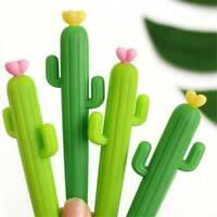 2x Cactus Gel Pens Cute Gift Pen Kids School Student Office Stationery Pen 0.5mm